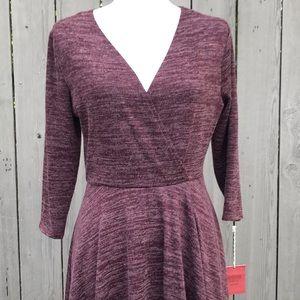 Mossimo Supply Co. Dresses - Mossimo Dress Faux Wrap Knit Mini Size Large NWT